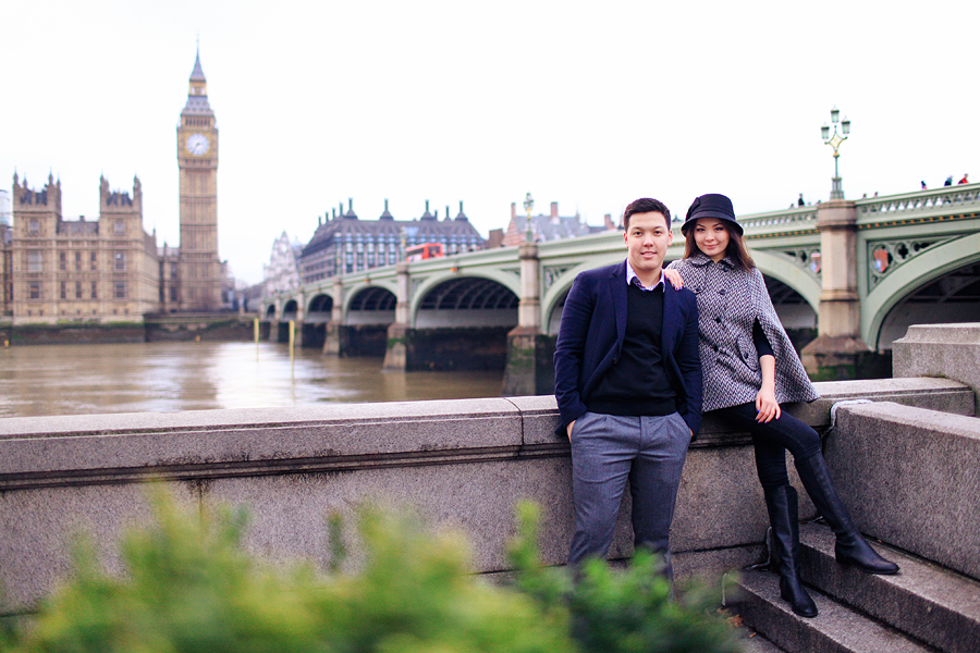 Winter Engagement photo shoot in London