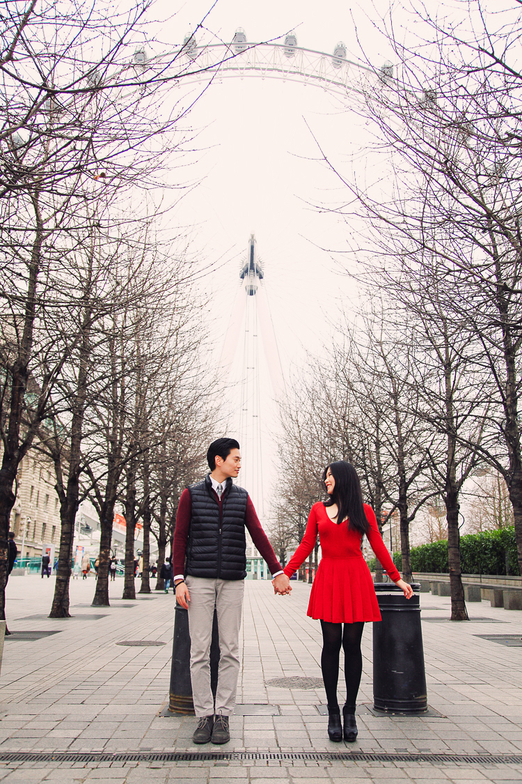 engagement pre wedding photo shoot london westminster big ben spring couple love _ 01