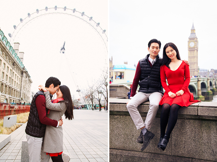 engagement pre wedding photo shoot london westminster big ben spring couple love _ 03