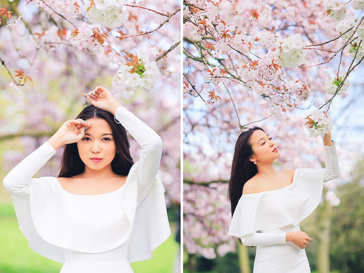 spring sakura cherry blossom fashion portrait asian beauty photo shoot london regents park _02