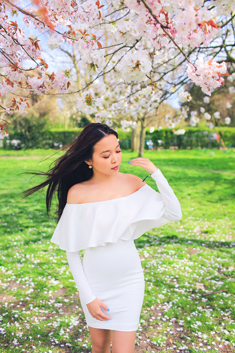 spring sakura cherry blossom fashion portrait asian beauty photo shoot london regents park _03