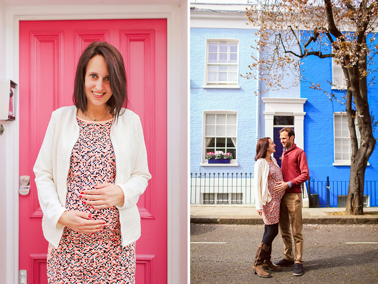 pregnancy photo shoot in notting hill london couple hyde park spring_