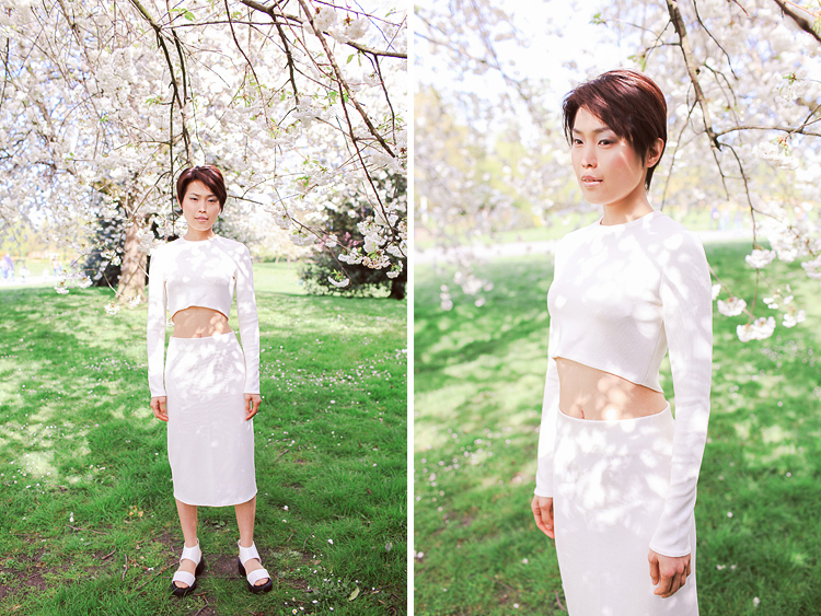 fashion spring sakura photo shoot cherry blossom london regents park outdoor portrait _02