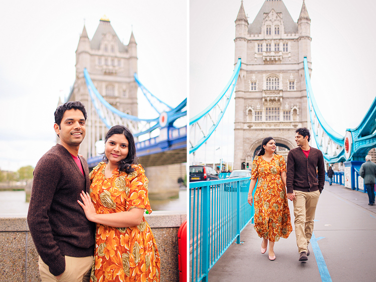 Couple photo shoot London engagement love story tower bridge big ben