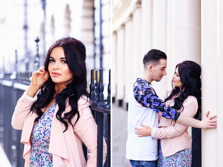 Couples engagement love pre wedding photo shoot London Regents park Marylebone summer garden  (1)
