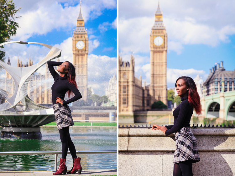 fashion portrait London photo shoot autumn Westminster Big Ben  (1)