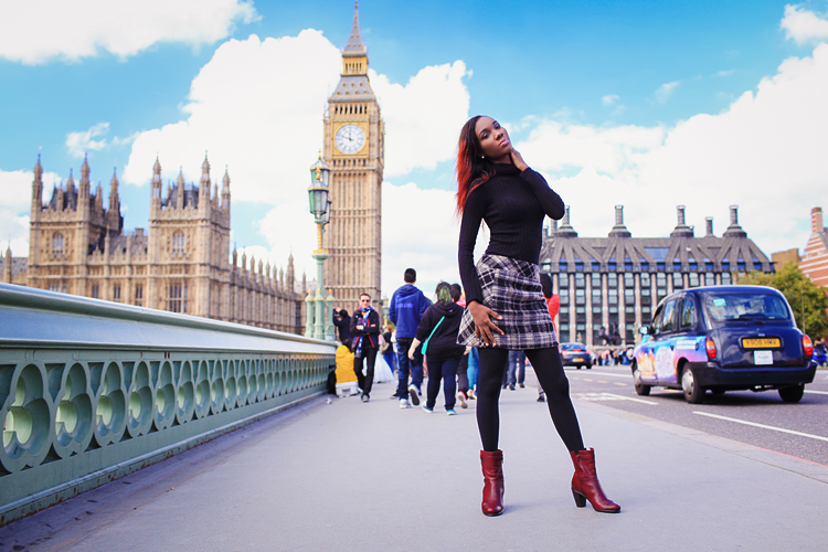 fashion portrait London photo shoot autumn Westminster Big Ben  (2)