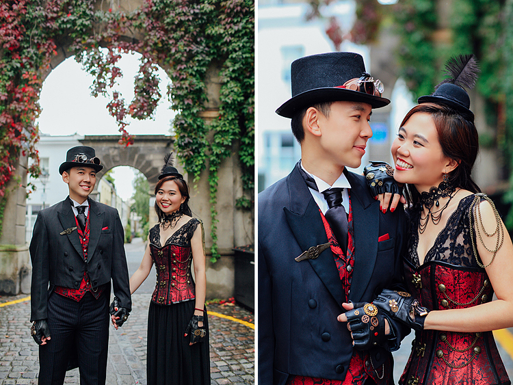 london engagement cosplay pre wedding vintage fantasy autumn photo shoot kynance mews kensington (1)