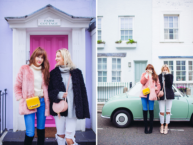 street style fashion portrait photographer London Notting Hill winter Belle and Bunty colourful