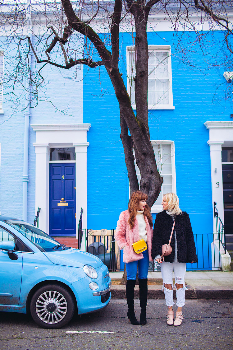 street style fashion portrait photographer London Notting Hill winter Belle and Bunty colourful (1)