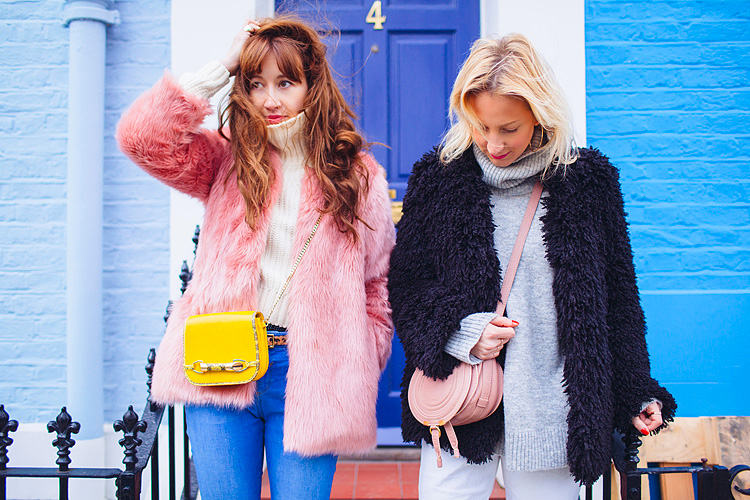 street style fashion portrait photographer London Notting Hill winter Belle and Bunty colourful (2)