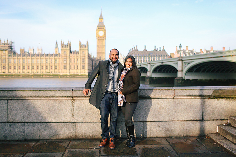 winter London outdoor couples Valentines day photo shoot engagement Westminster Big Ben tower Bridge (2)