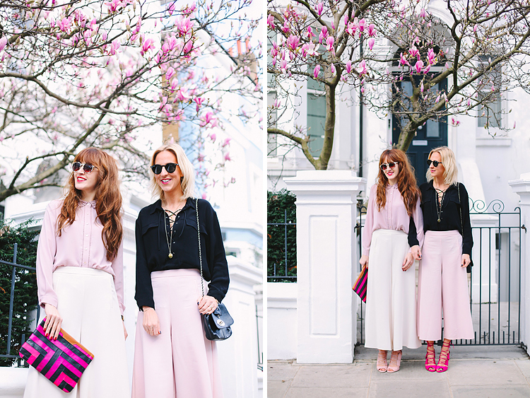 spring fashion street style London notting hill photo shoot spring magnolia belle and bunty lk bennett