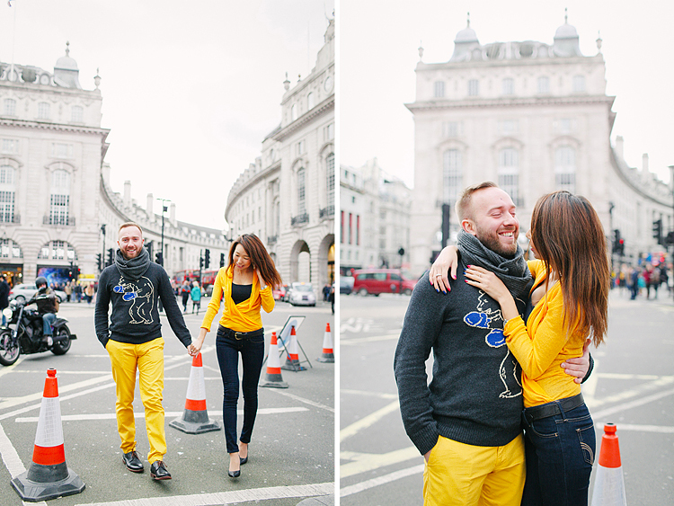 valentines day love couples engagement photo shoot London balloons piccadilly westminster big ben spring park yellow