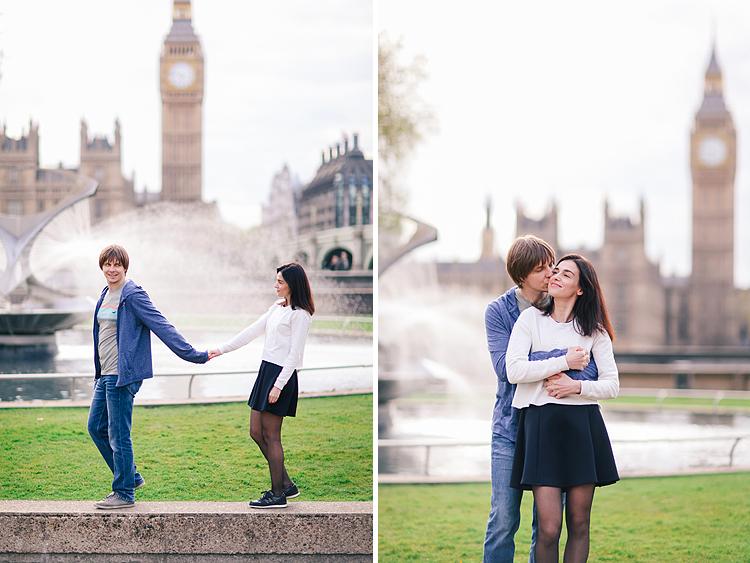 couples engagement outdoor London westminster big ben photo shoot (3)