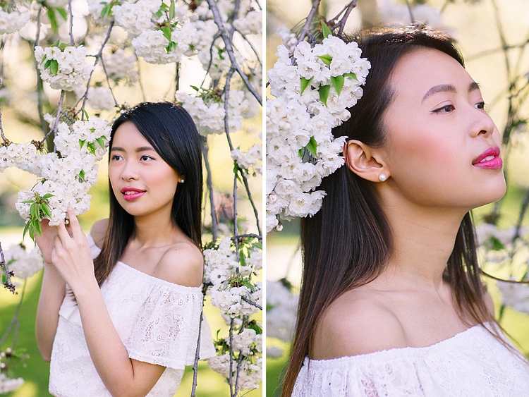 cherry blossom sakura spring london outdoor fashion portrait photoshoot regents park (1)