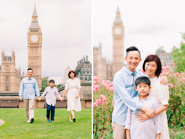 family photographer london outdoor photo shoot Westminster Big Ben summer