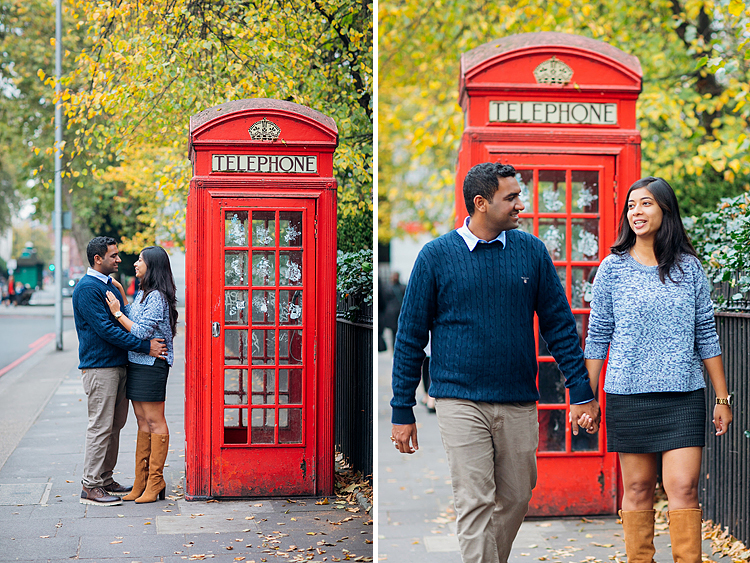 south kensington london couples engagement pre wedding proposal autumn photo shoot big ben westminster bridge tower evening