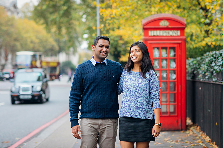 south kensington london couples engagement pre wedding proposal autumn photo shoot big ben westminster bridge tower evening (1)