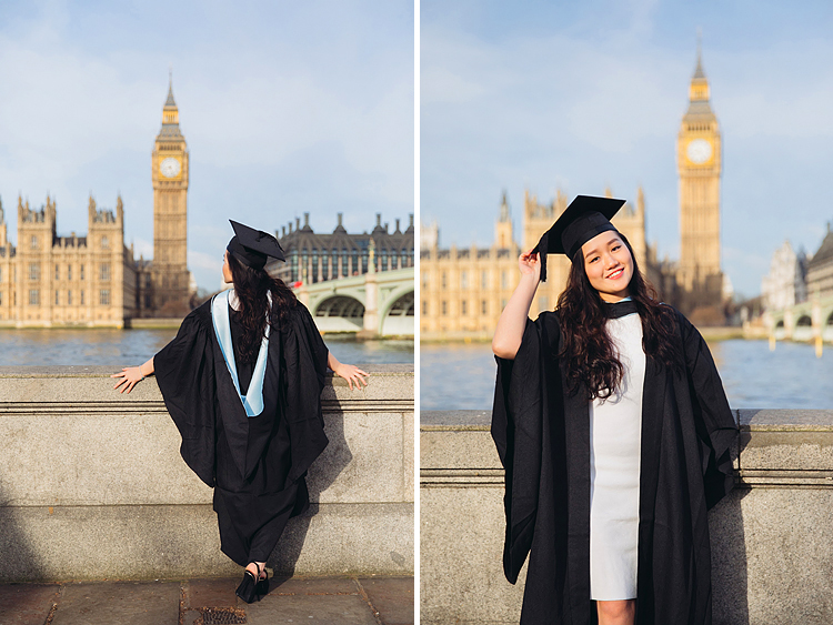 graduation london photo shoot portrait outdoor Big Ben Westminster street style (1)