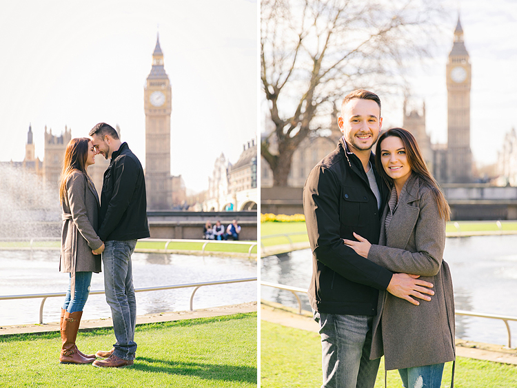 couples photo shoot in London Westminster Big Ben spring engagement photographer (1)
