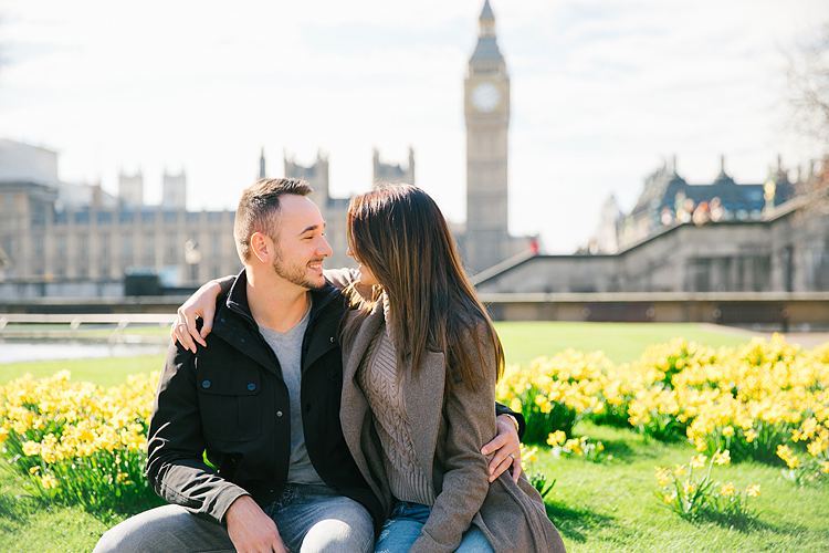 couples photo shoot in London Westminster Big Ben spring engagement photographer (2)