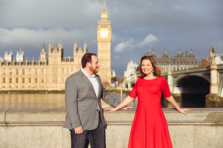 couple love story anniversary photo shoot London Westminster Bridge Red telephone box Big Ben (2)