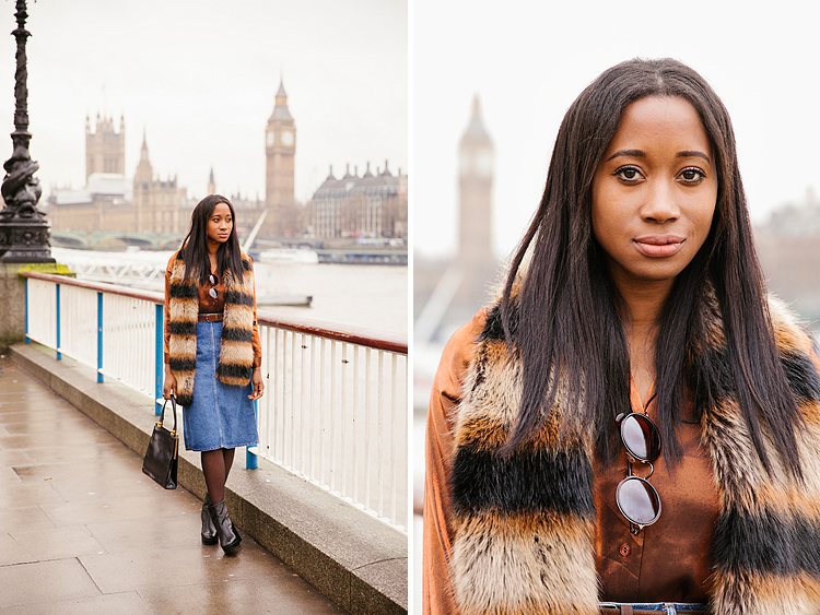 street style photographer London westminster big ben winter fashion blogger photo shoot