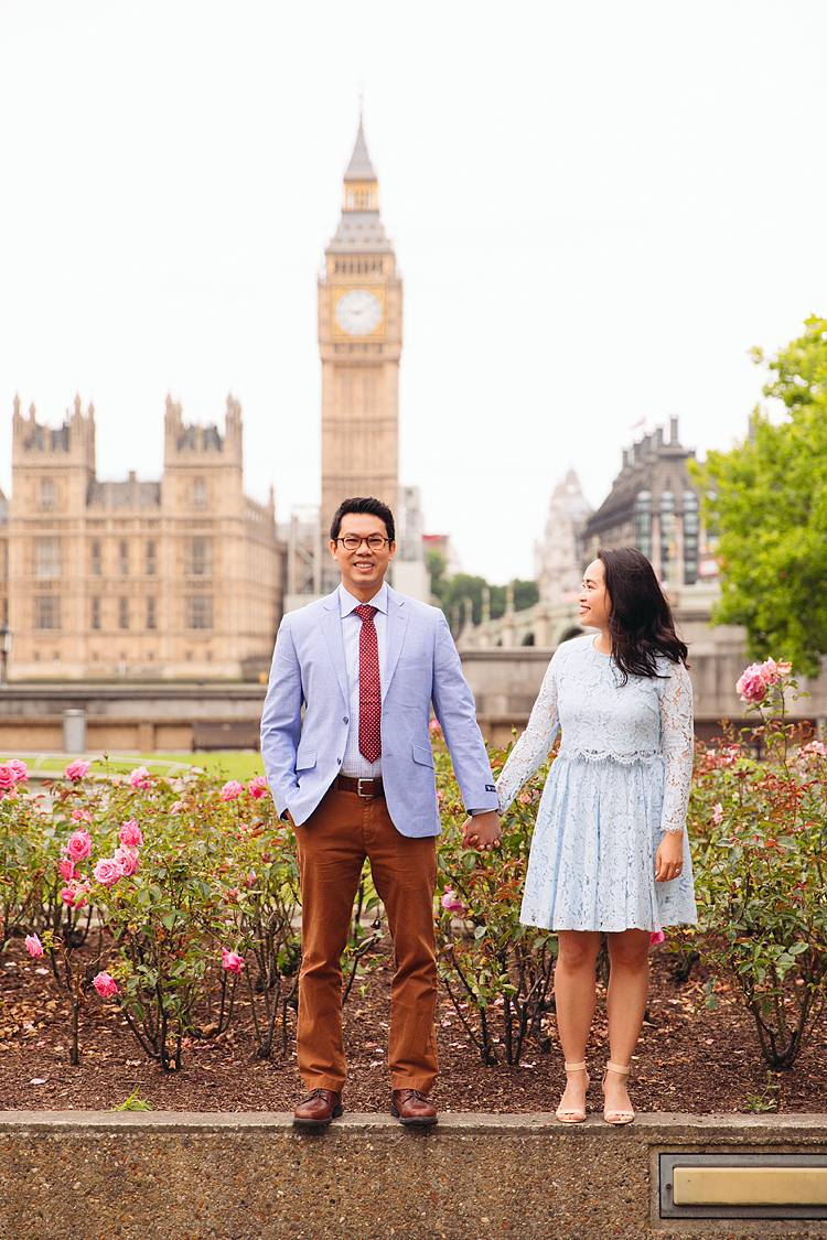 anniversary couples engagement love photo shoot london Big ben Westminster