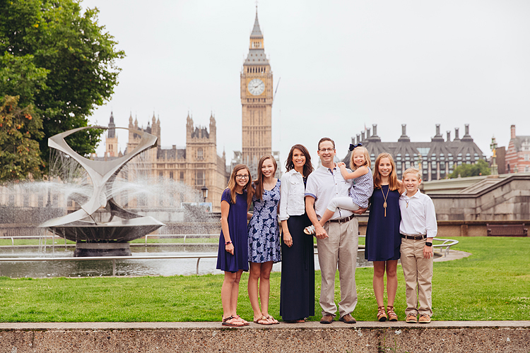 family summer photo shoot london westminster big ben london eye kids portraits