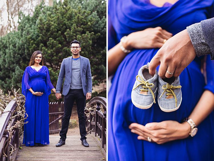 pregnancy maternity couples photo shoot spring London Regent