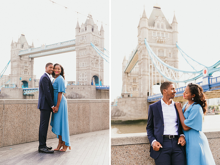 couples anniversary engagement photo shoot London Tower Bridge summer (2)